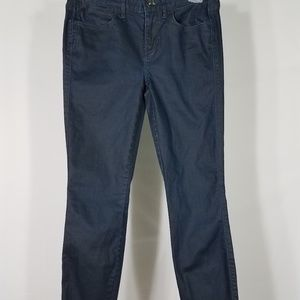 shiny luxe dark wash skinny skinny ankle jeans 26